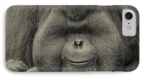 Bornean Orangutan II IPhone 7 Case by Lourry Legarde