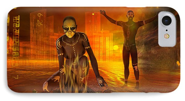 IPhone Case featuring the digital art Borrowed Time by Shadowlea Is