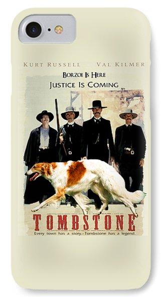 Borzoi Art - Tombstone Movie Poster IPhone Case