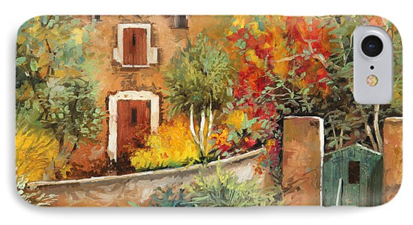 Bosco Giallo IPhone Case by Guido Borelli
