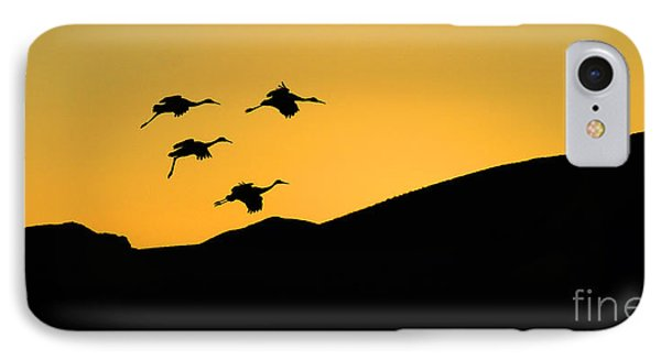 Bosque Del Apache Last Light Phone Case by Bob Christopher