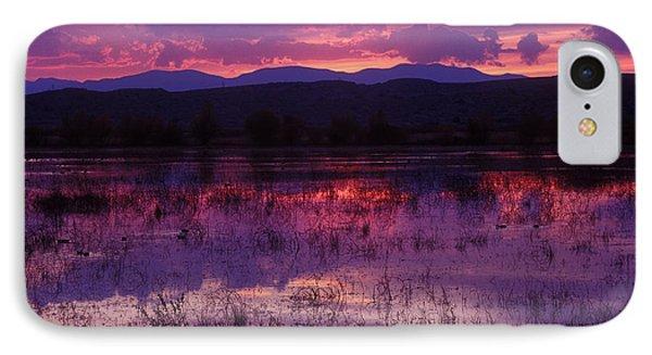 Bosque Sunset - Purple IPhone Case by Steven Ralser