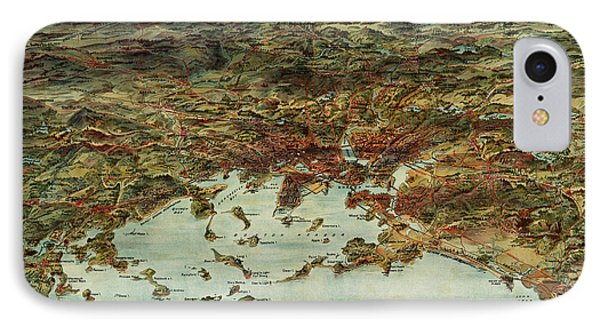Boston And Environs Vintage Map IPhone Case by Edward Fielding