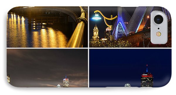 Boston At Night Collage IPhone Case by Toby McGuire