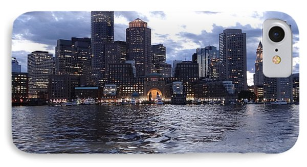Boston At Twilight Two IPhone Case by Laura Lee Zanghetti