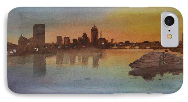 Boston Charles River At Sunset  Phone Case by Donna Walsh