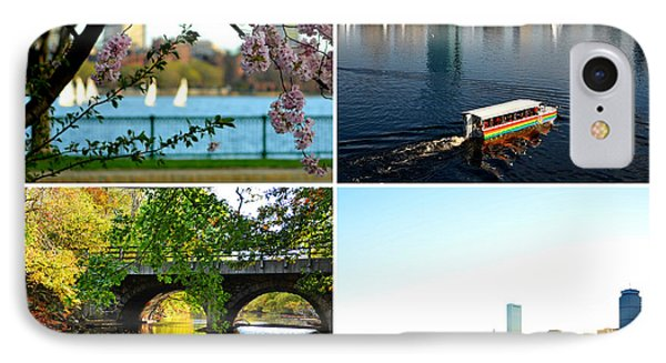 Boston Charles River Four Seasons Collage IPhone Case by Toby McGuire