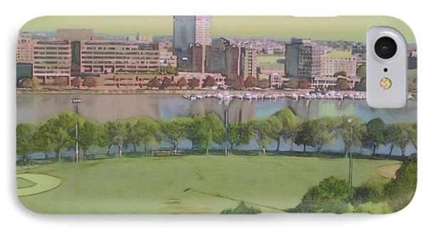 Boston Charles River View - Square IPhone Case by Lyn Voytershark