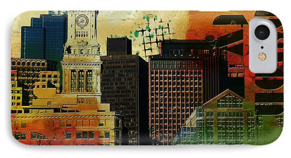 Boston City Collage 2 IPhone Case by Corporate Art Task Force