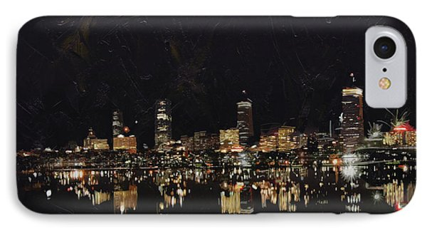 Boston City Skyline 2 IPhone Case by Corporate Art Task Force