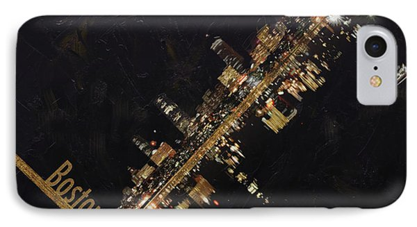 Boston City Skyline IPhone Case by Corporate Art Task Force