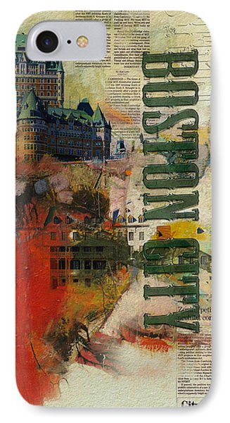 Boston Collage IPhone Case by Corporate Art Task Force