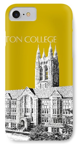 Boston College - Gold IPhone Case by DB Artist