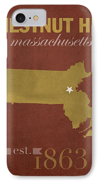 Boston College Eagles Chestnut Hill Massachusetts College Town State Map Poster Series No 020 IPhone Case by Design Turnpike