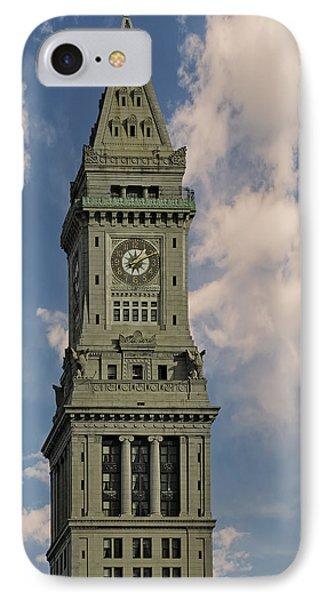 Boston Custom House Clock Tower IPhone Case by Susan Candelario