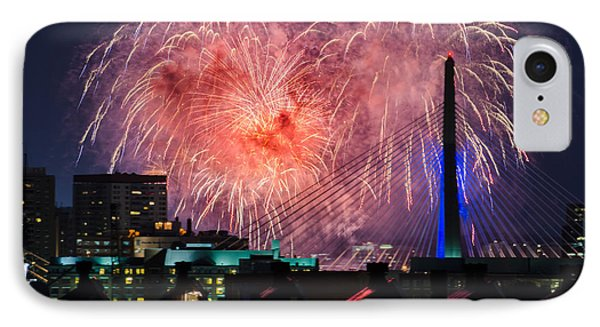 IPhone Case featuring the photograph Boston Fireworks 1 by Mike Ste Marie