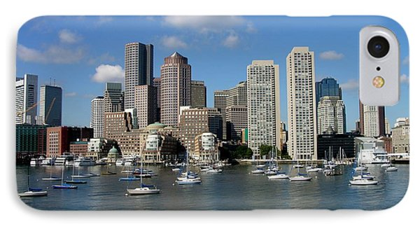 Boston Habor Skyline IPhone Case by Keith Stokes