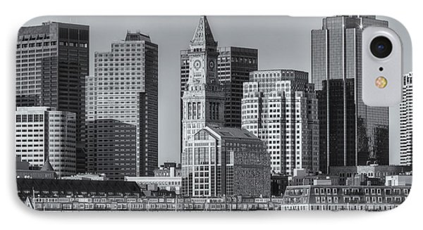 Boston Harbor And Skyline II IPhone Case by Clarence Holmes
