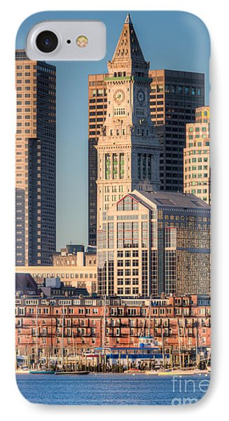 Boston Harbor And Skyline IIi IPhone Case by Clarence Holmes