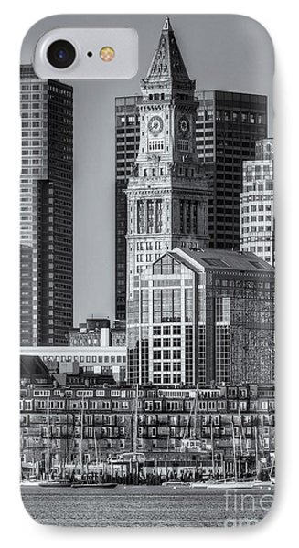 Boston Harbor And Skyline Iv IPhone Case by Clarence Holmes