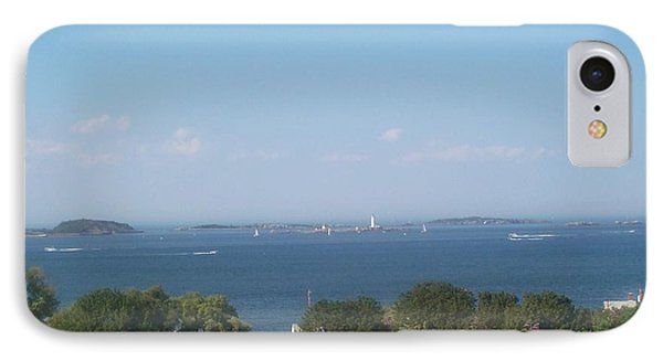 IPhone Case featuring the photograph Boston Harbor From Hull by Barbara McDevitt