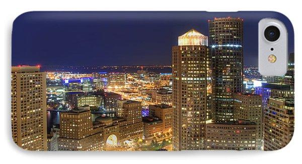 Boston Harbor Hotel Skyline Phone Case by Joann Vitali
