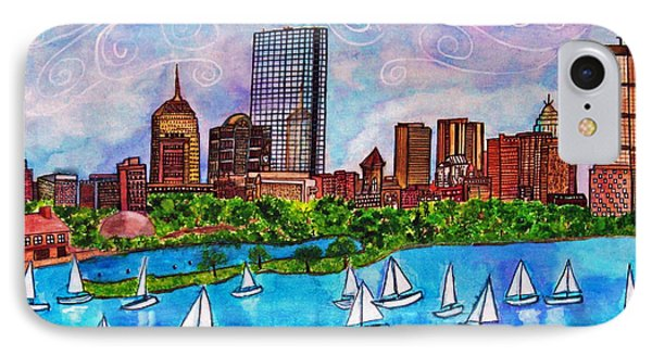 Boston Harbor IPhone Case by Janet Immordino