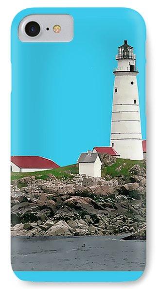 Boston Harbor Lighthouse IPhone Case