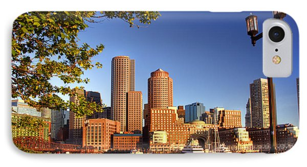 Boston Harbor Sunrise Phone Case by Joann Vitali