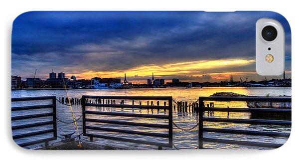 Boston Harbor Sunset 3 IPhone Case