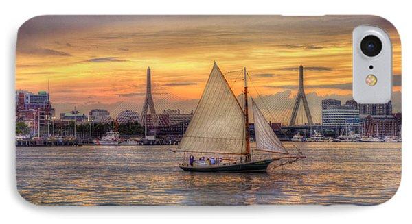 Boston Harbor Sunset Sail IPhone Case