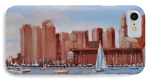 Boston Harbor View IPhone Case by Laura Lee Zanghetti
