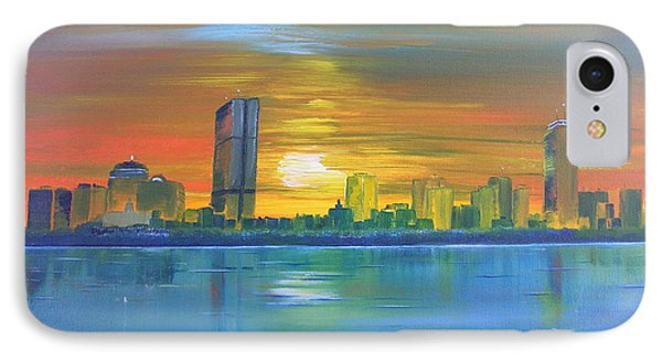 IPhone Case featuring the painting Boston II by Barbara Hayes
