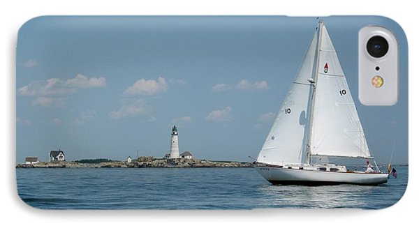 Boston Light Two IPhone Case by Laura Lee Zanghetti