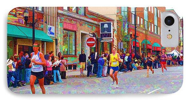 Boston Marathon Mile Twenty Two Phone Case by Barbara McDevitt