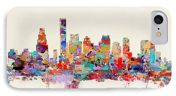 Boston Massachusetts Skyline IPhone Case by Bri B