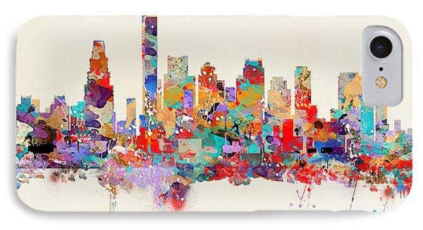 boston Massachusetts skyline square   IPhone Case by Bri B