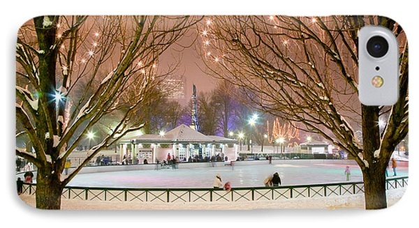 Boston New Year Skate Phone Case by Susan Cole Kelly