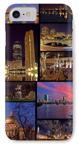 Boston Nights Collage Phone Case by Joann Vitali