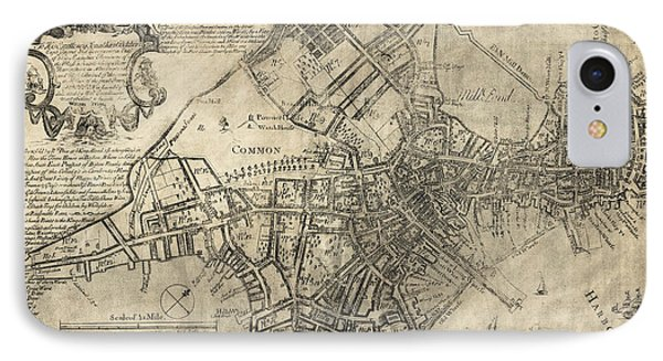Boston Of British Dominion Map  1769 Phone Case by Daniel Hagerman