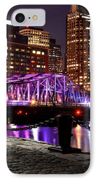Boston Old Northern Avenue Bridge Illuminated IPhone Case by Toby McGuire