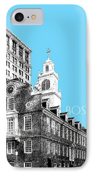 Boston Old State House - Sky Blue IPhone Case by DB Artist
