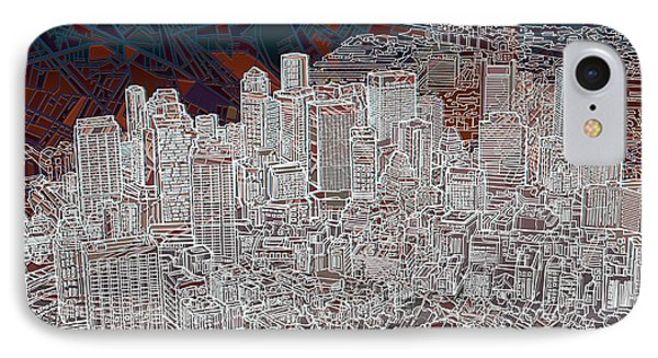 Boston Panorama Abstract 3 IPhone Case