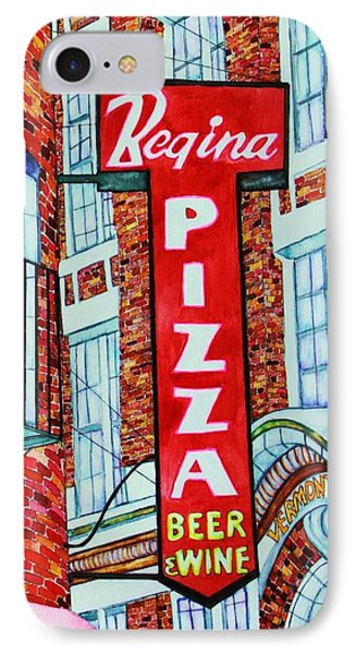 Boston Pizzeria  IPhone Case by Janet Immordino