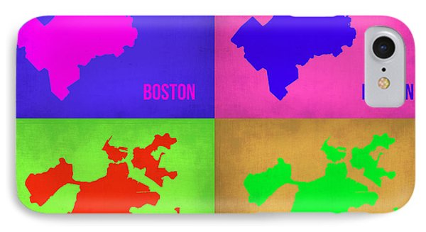 Boston Pop Art Map 1 IPhone Case by Naxart Studio