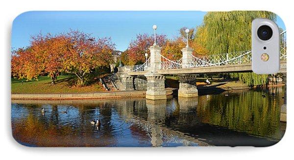 Boston Public Garden Autumn IPhone Case by Toby McGuire