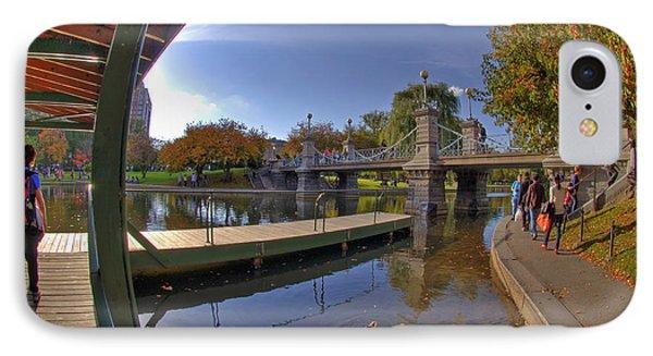 Boston Public Garden IPhone Case by Joann Vitali