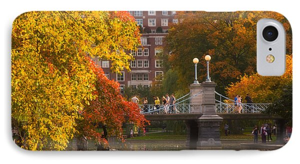 Boston Public Garden Lagoon Bridge IPhone Case by Joann Vitali