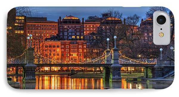 Boston Public Garden Lagoon IPhone Case by Joann Vitali