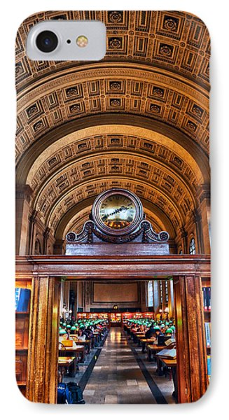 Boston Public Library IPhone Case by Mitch Cat